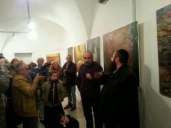 פתיחתה של התערוכה של האומן מיכאל מורגנשטרן, תושב פסגות, בירושלים